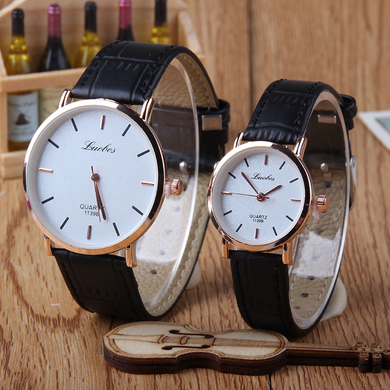2Pcs Simple Couple Watch Creative Quartz Wristwatches 2019 Mens Watches Top Brand Luxury Casual Leather Watch Clock