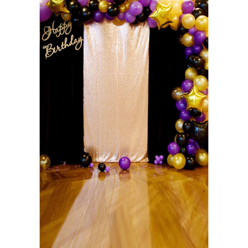 Laeacco Photography Backdrops Colorful Balloons Royal Screen Baby Birthday Party Portrait Photo Backgrounds For Studio