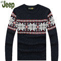 AFS JEEP / Battlefield 2016 Jeep men's casual warm thick velvet pullover sweater autumn and winter fashion classic men's 70
