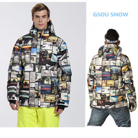 Gsousnow 10K High Quality Ski Jacket Men S Windproof Warm Thickening Colorful Plaid Ski Suit Male