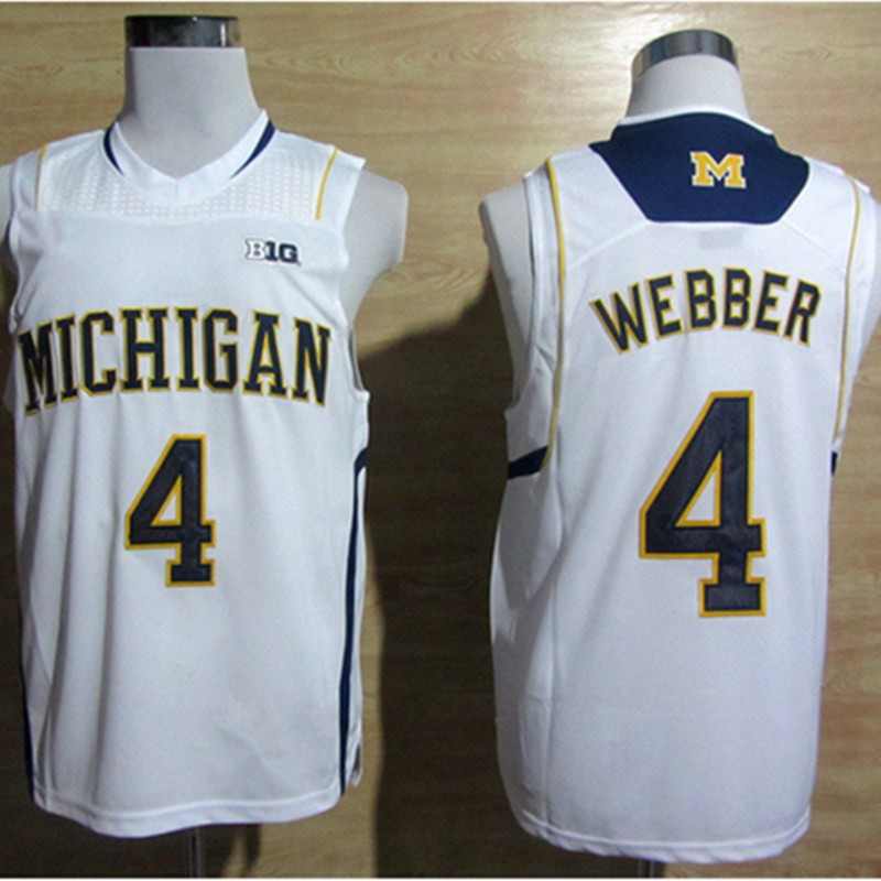 quality design e7b7c 61e9e #4 Chirs Webber #1 Glenn Robinson #3 Trey Burke #10 Tim Hardaway Jr  Michigan Wolverines College Basketball Jersey-in Basketball Jerseys from  Sports & ...