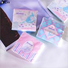 BXLYY1 пакет Русалочка мягкая упаковка бумаги охраны окружающей среды 60 Накачка 3 слоя Толстая мягкая бумага с рисунком Единорог Party.7z