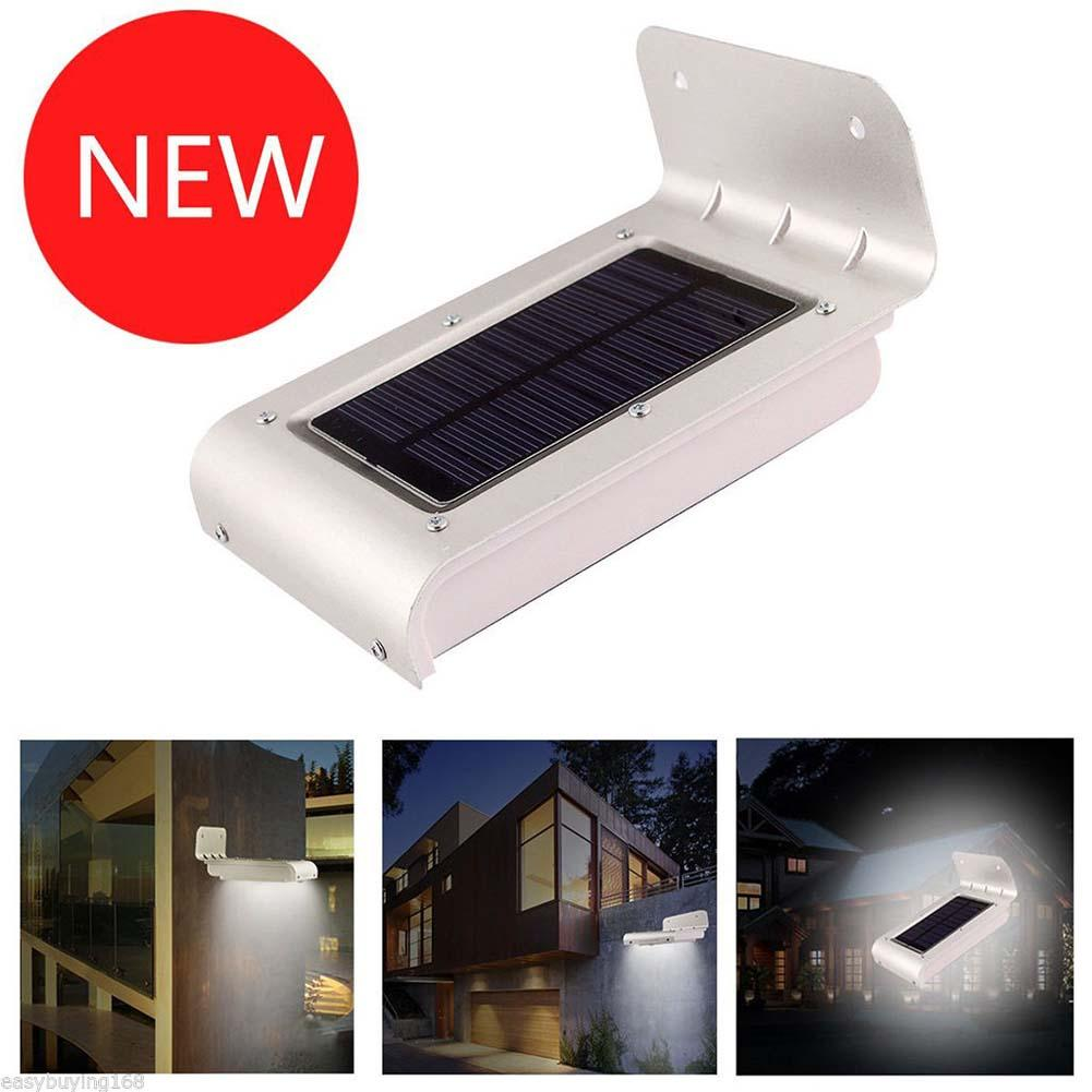 16 Led Outdoor Solar Light Wall Mount Security Lamp Super Bright Powered Garden With Sensor Waterproof Motion Patio Path Fence In Night Lights From