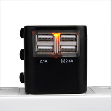 Universal Travel Adapter 2.4 A with LED Power Indicator