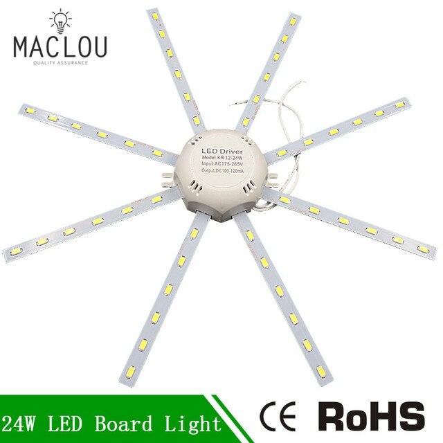 24W LED Lamp Octopus Light High Bright 220V 5730 SMD LED White Board Light Ceiling Lamp Energy Saving Expectancy Indoor For Home