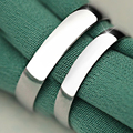 Anéis de Prata Esterlina 925 com Platina Banhado Simples Suave Moda Marca de Jóias para As Mulheres Homens Casais Frete Grátis (SR001)
