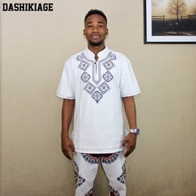 Dashikiage Mens VINTAGE TUNIC 70s Woven Embroidered T-shirt Fringe ETHNIC Dashiki Hippy Festival