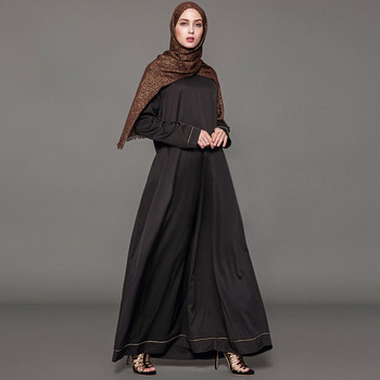 b81e27762 De moda para adultos bordado de encaje traje de las mujeres vestido de  Kaftan Jilbab islámica de manga larga Abaya musulmana Maxi vestido de cóctel  Z411