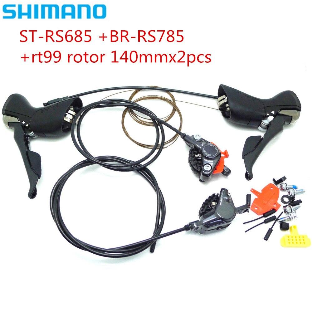 Shimano ST-RS685 BR-RS785 vélo de route 2x11 S sti manettes de vitesse avec freins à disque hydrauliques et rotor rt99 2 pièces