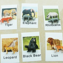 Baby Toys Montessori Cards Animal Language Preschool Educational Learning Toys For Children Juguetes Brinquedos MI3064H все цены