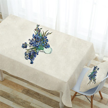 Simple pastoral style tablecloth home printing fabric finished appliances waterproof cloth