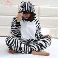 Invierno de La Manga Completa Animal de la Cebra de camisolas de seda pijama marca primark pijamas onesie adultos pijamas de las mujeres calientes más el tamaño XL