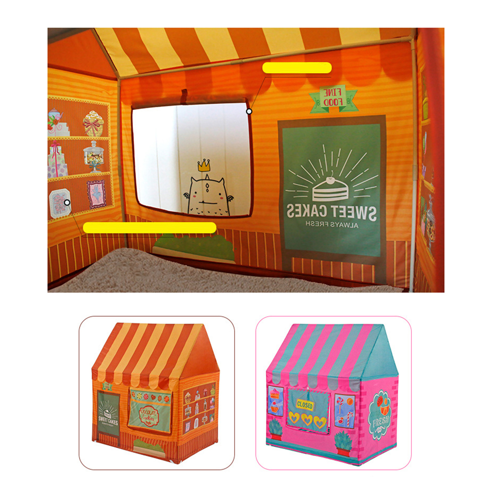 Folding Pop Up Playhouse Dessert House Game Playhouse Tent Ball Pit Kids Indoor & Outdoor Toy outdoor puzzle folding mongolia bag game house tents
