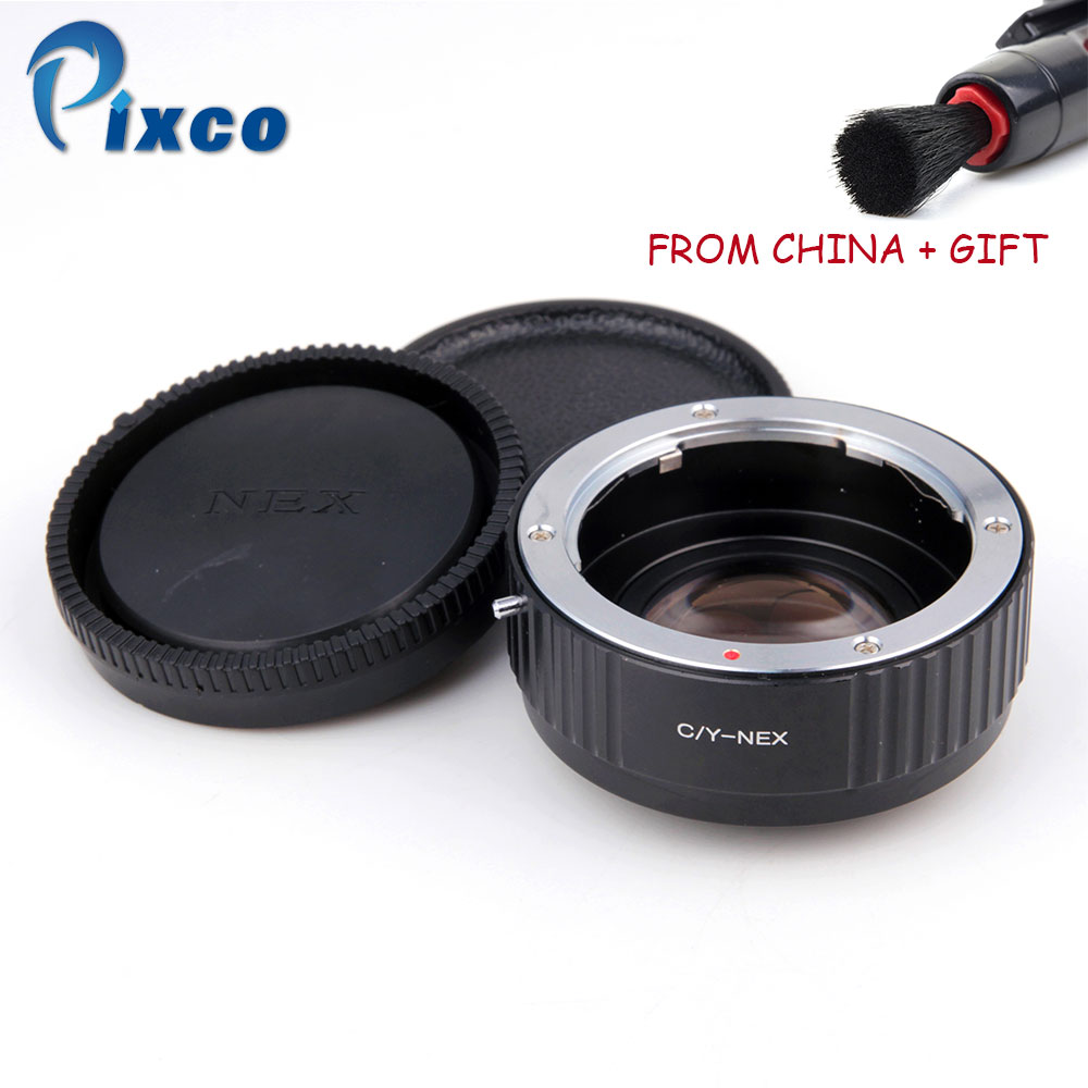 ADPLO For Contax-NEX Focal Reducer Speed Booster, Suit for Yashica Lens to Suit for Sony E Mount NEX  Camera DropShippingADPLO For Contax-NEX Focal Reducer Speed Booster, Suit for Yashica Lens to Suit for Sony E Mount NEX  Camera DropShipping