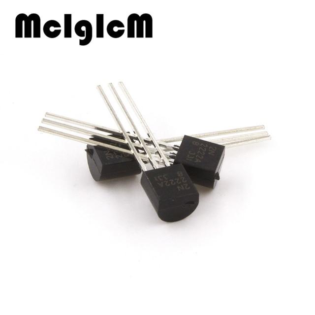 MCIGICM 100 pcs 2N2222A in-line triodo transistor NPN transistor di commutazione TO-92 0.6A 30 V NPN 2N2222