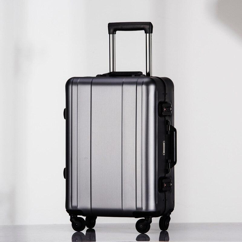 Bagage roulant 20 valise en aluminium pleine maletas de viaje con ruedas envio gratis voyage valise koffer valise bagages roulettes
