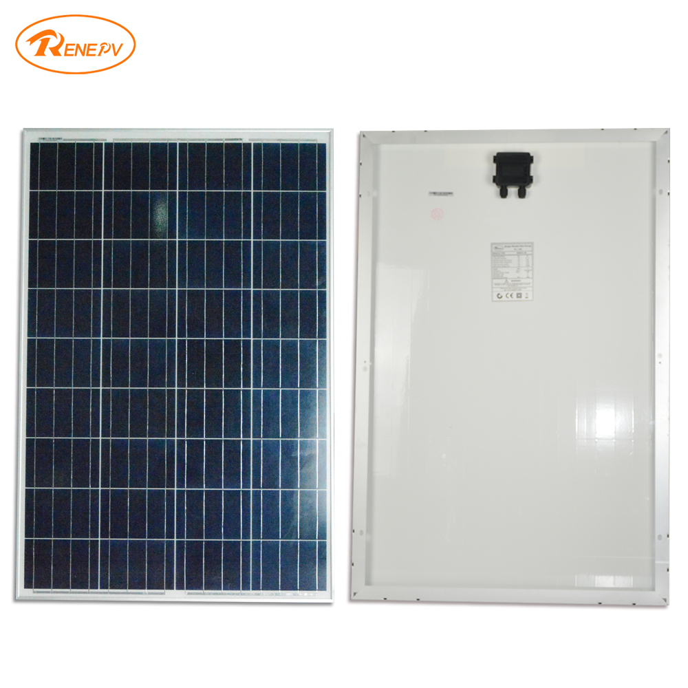 Renepv 90W polycrystalline silicon solar module 18V power charging panel renepv 20w polycrystalline solar panels 18v for 12v battery power charging kit