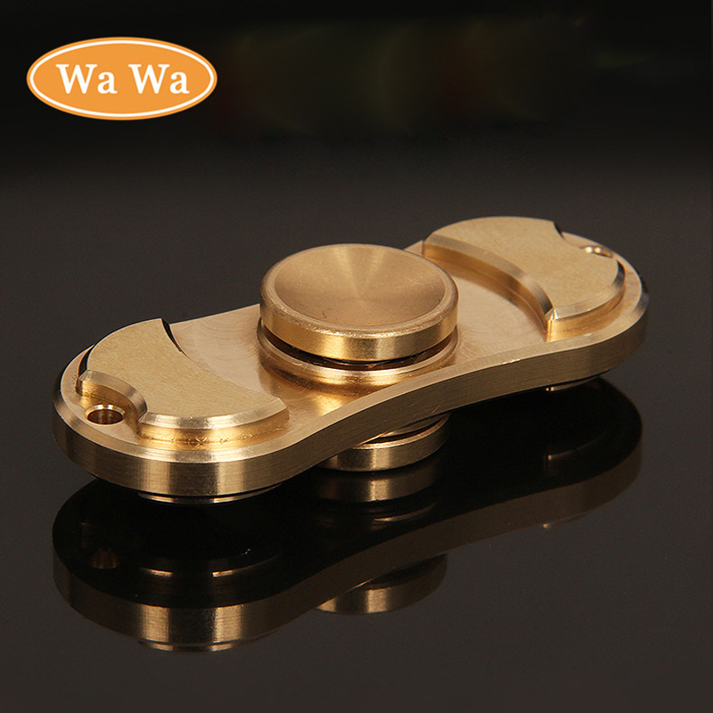 Metal Pure copper Fidget Toy Anti Stress Fidget Spinner toy Hand Spinner EDC Tri Spinner Toy
