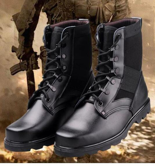 48d3dd39a33 Summer Men Army Boots Round Toe Tactical Boots Fashion High Men s Outdoor  Leather Shoes 75