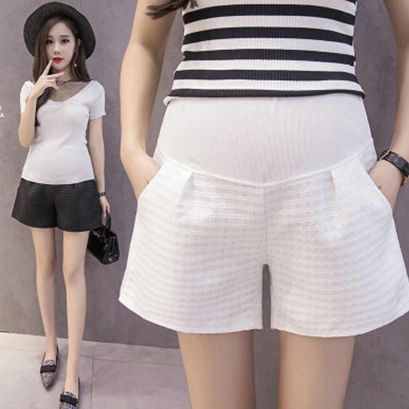 092ef9240b2e Шорты для беременных женщин, брюки, модная жаккардовая сетка, верхняя одежда  для беременных,
