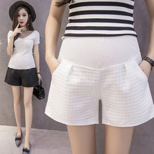 8e985472e01b56 Pregnant Women Shorts Pants Fashion Jacquard Grid Outer Wear Maternity  Loose Casual Clothes Pregnant Nursing belly