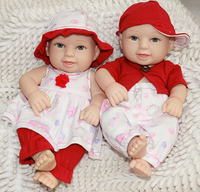 New Styles NPK Doll Reborn Baby Twins Dolls Full Silicone Vinyl Body Girl And Boys Doll Mini 11 inches Fashion Kids Toys Hobbies