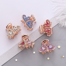 1PC Women shiny Crystal Modelling of love Hairgrip Hair crab claw clip Alloy Elegant Hairpins Styling Headwear Accessorie