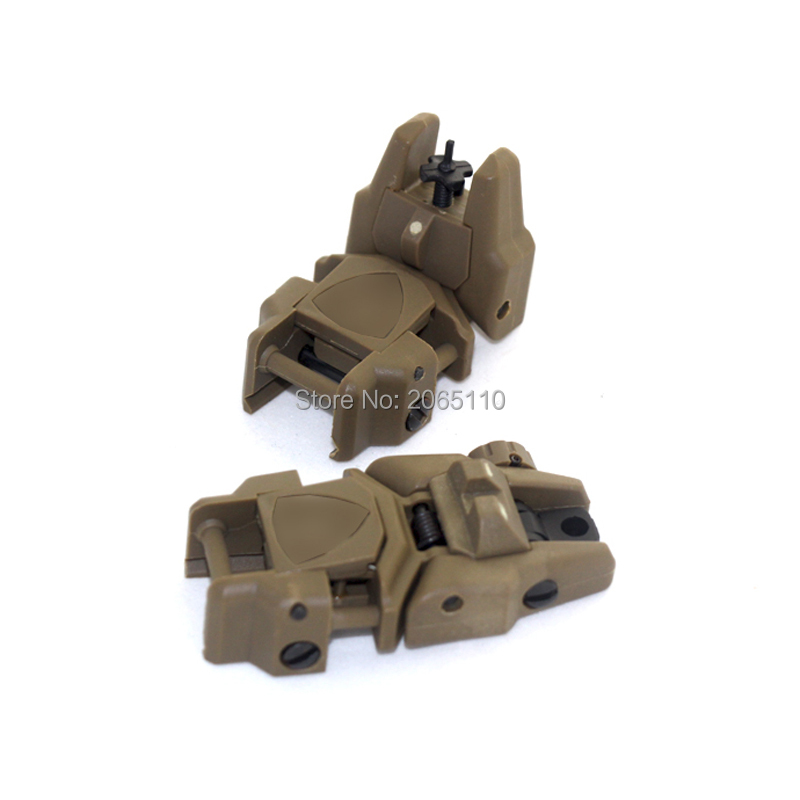 20MM Rail Tactical Folding Front & Rear Set Flip Up Backup Sights For Airsoft Hunting