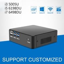 Spuer! Mini PC Windows 10 DDR4 RAM Mini Computer CPU Core i3 5005U 6th Gen Intel Processor 4K Player HTPC Komputer TV BOX 4*USB