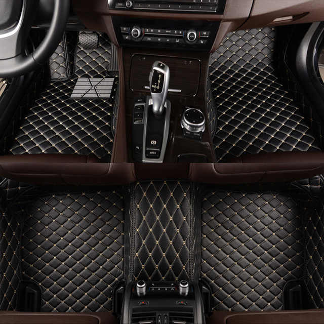 Leather Car floor mat carpet rug for Ravon Matiz Nexia R2 R3 custom fit car all weather floor mat foot mats