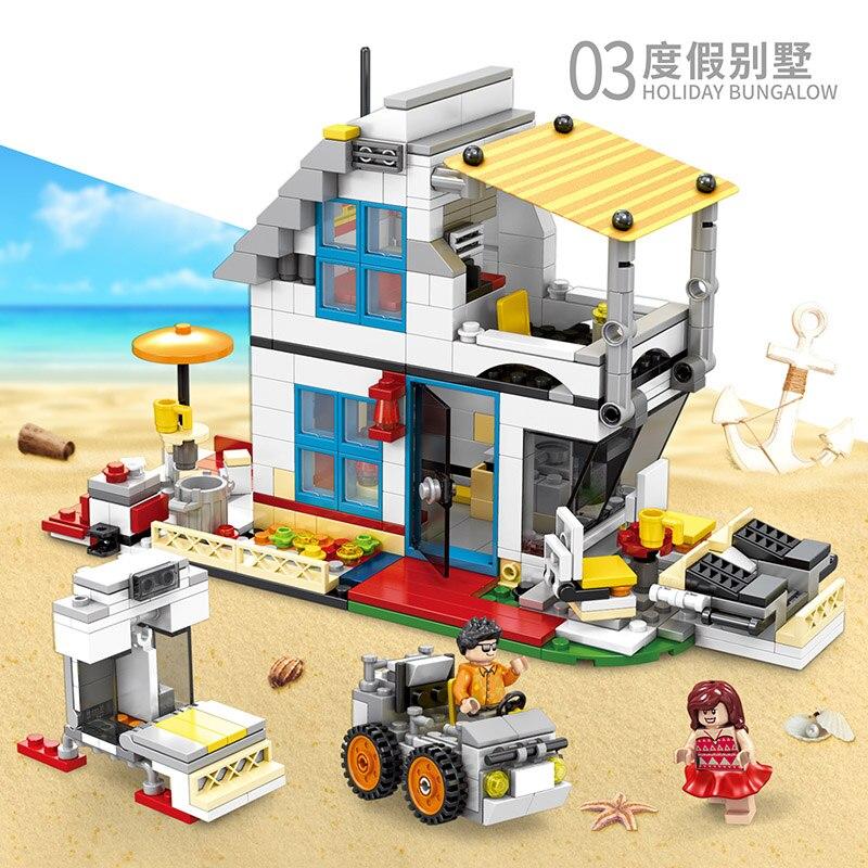 3-In-1-City-Mini-Street-View-Scene-662Pcs-SD6970-Building-Block-Bricks-Vacation-camping-car (3)