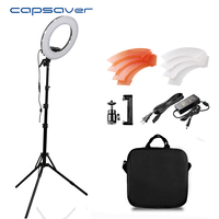 capsaver 12 Ring Light Annular Lamp for Video CRI90 Dimmable 5500K 196 LEDs Photo Lamp LED Ring of Light Studio Video Ringlight