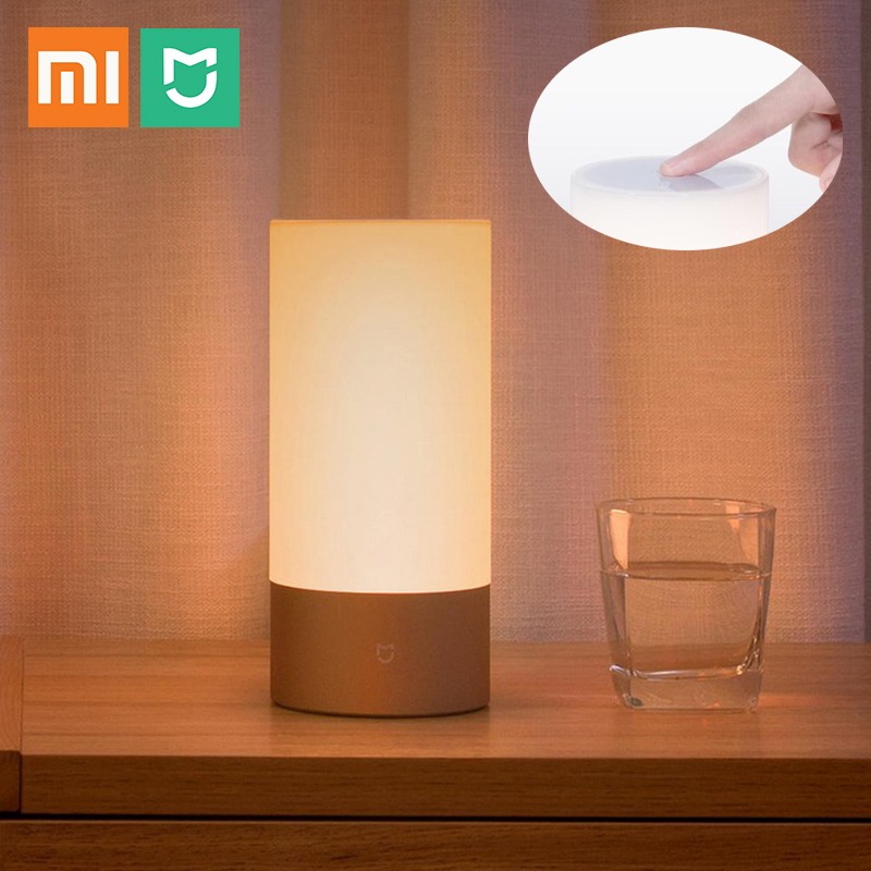 2018 Xiaomi Mijia Bedside Lamp Smart Light Indoor Bed Night Light 16 Million RGB Colorful Changing Bluetooth WiFi Touch Control-in Smart Remote Control from Consumer Electronics    1