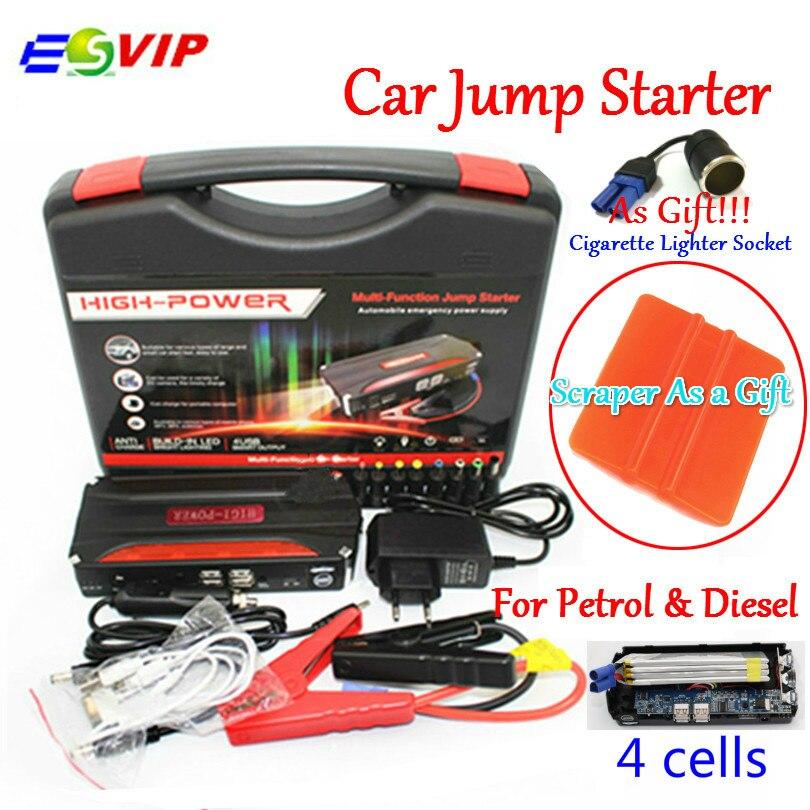 Emergencia del coche 12 V batería de coche Jump Starter Booster Mini Banco Portable 600A pico de corriente de múltiples funciones del coche salto de arranque