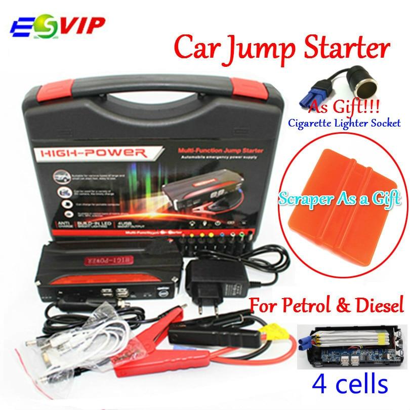 Mini Portable Car Jump <font><b>Starter</b></font> Emergency Start 12V Petrol/Diesel Engine Multi-Function 4 USB power bank Battery Charger