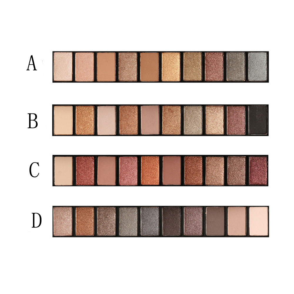 FOCALLURE Earth Matt Pearl Warm Smoked Highlighters Brightens Brands Eyeshadow 10 colors Eye Shadow Colorful Make Up for Women