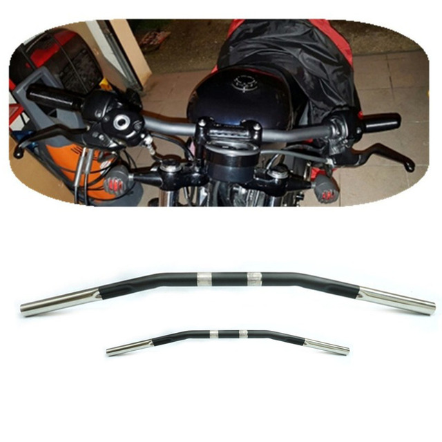 Motorcycle Drag Bar Curved Handlebar For Harley Sportster XL 1200 Iron 883 48 72 Roadster Nightster