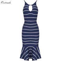 Ocstrade Bandage Dresses Party 2018 New Fashion Mermaid Blue Bandage Dress HL Rayon Womens Bandage Dresses High Quality