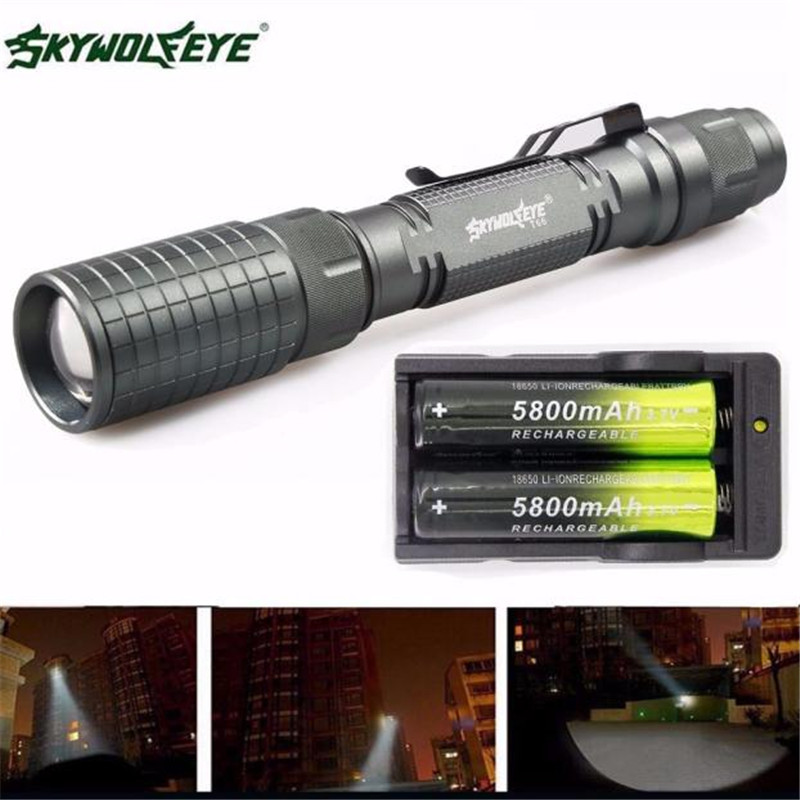 1Set Flashlights on a bicycle Cycling Bike Head Front Light Bicycle LightZoomable 3500 Lumen 5 Modes XML LED Torch #3