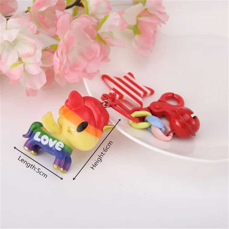 Pom Pom Fofo Unicórnio de pelúcia Brinquedos Kawaii Recheado Brinquedos Unicornio Chaveiro Mulheres Saco Pendurar Pingente de Aniversário para Crianças Brinquedo de Presente de Páscoa