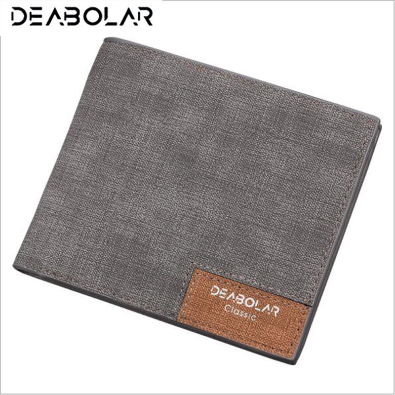 DEABOLAR Brand 2018 Vintage Man Wallet Male Slim Top Quality Leather Wallets Thin Money Dollar Card Holder Purses for Men 2018 new men wallets leather small money purses brand wallets dollar price high quality male thin wallet credit card holder bag
