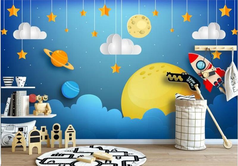 Baby Wallpapers Custom Mural Wallpaper Fantasy Space Astronaut Mural Contact Cartoon Background Living Room Desktop Wallpaper