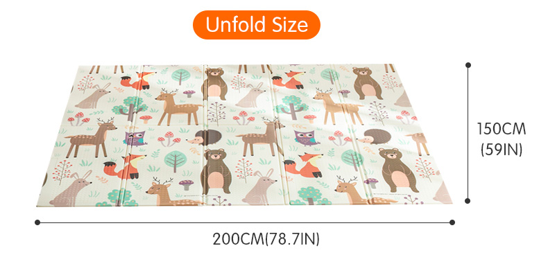 HTB1Cj13cQ5E3KVjSZFCq6zuzXXan Infant Shining Foldable Baby Play Mat Thickened Tapete Infantil Home Baby Room Puzzle Mat  XPE 150X200CM Splicing 1CM Thickness
