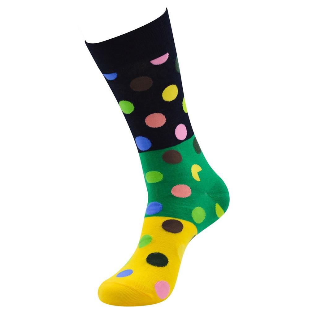 1 пара, удобные хлопковые носки унисекс в горошек, хлопковые носки средней длины, удобные длинные носки для женщин и мужчин
