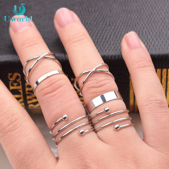 0361fe6ca367e Bague Bijoux Anneau Ensemble de Bijoux Femme Femmes Bohême Midi Turc Jeunes  Filles Anel Knuckle madame
