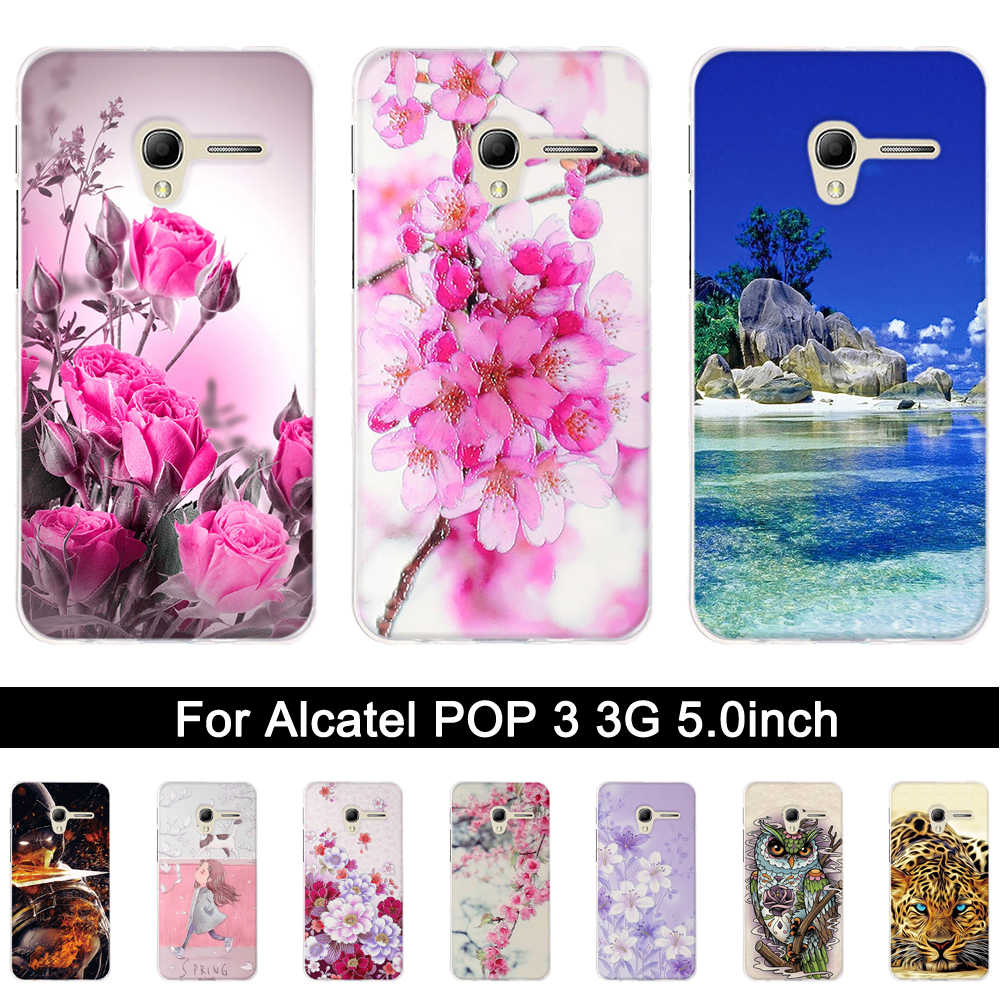 TPU Case for Alcatel One Touch Pop 3 3G 5015D 5.0 inch Back Case Phone Cover for alcatel pop 3 5015d Soft Silicone Shells Fundas