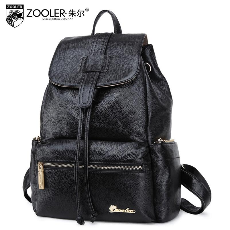 Zooler 2017 New superior cowhide women genuine leather backpack fashion leisure women famous brands backpack