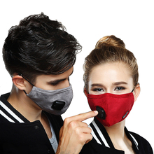 Dust-proof Cotton Mouth Mask Anti-Dust Cloth Mask Rider's Respirator PM2.5 Anti Haze Black Face Mask with 6 Filter cloth