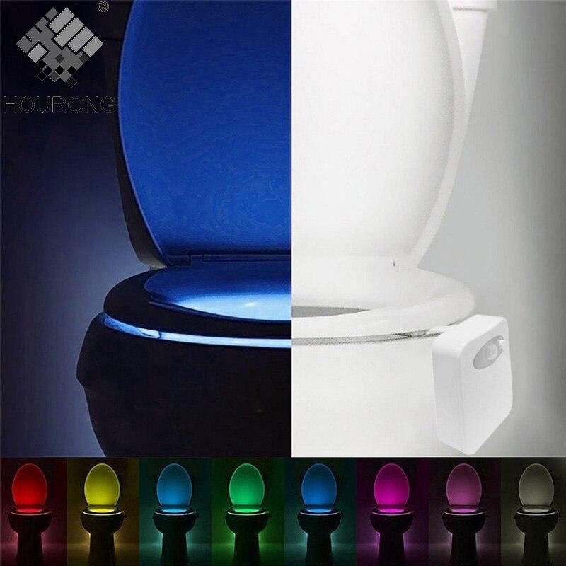 1pc Toilet Seat Led Light Human Motion Sensor Automatic