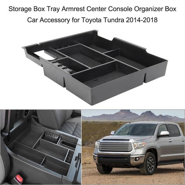 Storage Box Tray Armrest Center Console Organizer Box Car Accessory for Toyota Tacoma 2016-2018 Toyota Tundra 2014-2018
